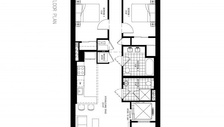 15 EAST 17TH ST - 4TH FLOOR PLAN (5 BEDROOMS)