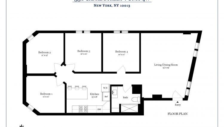 336 Canal St - #4W floorplan