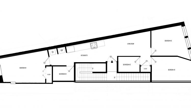 Unit Floor Plan - 861 Bway